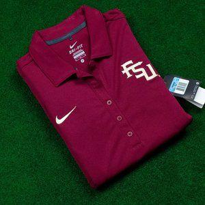 NWT Womens Nike Golf DRI-FIT FSU Garnet/Gold Polo